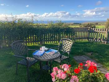 DELIGHTFUL GARDEN WITH WONDERFUL SEA VIEWS