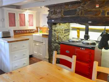 KITCHEN AND DINING AREA WITH GAS AGA