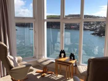 THE LARGE BAY WINDOW OFFERS SPECTACULAR VIEWS