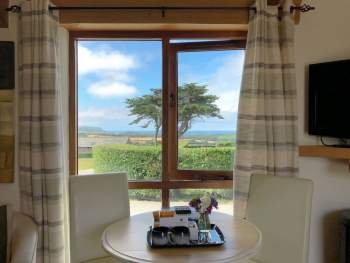 WONDERFUL FAR REACHING SEA VIEWS FROM THE DINING AREA
